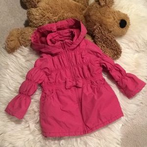 Gymboree Toddler Girls Puffer Hoodie Jacket XS 3-4